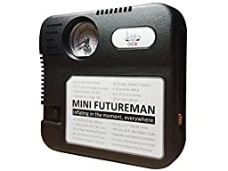 Taiwan Present Mini Futureman 12 Volt DC Portable Tire Inflator, Air Compressor - Black