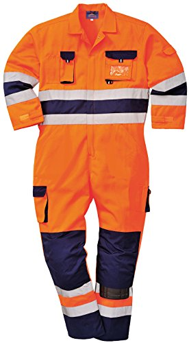 Hi Vis High Visibility TwoTone Texo TX55 Nantes Coverall Overall Orange/Navy Large High Visibility Overalls