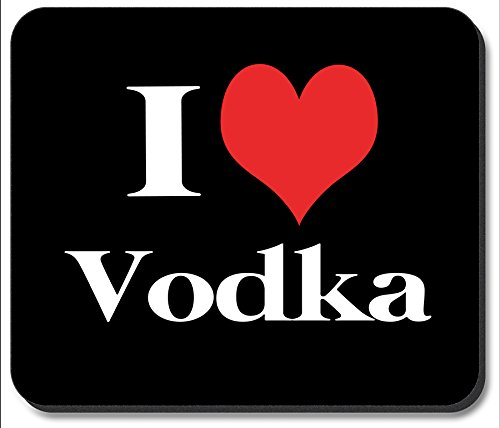 Art Plates brand Mouse Pad - I Heart (Heart Vodka)