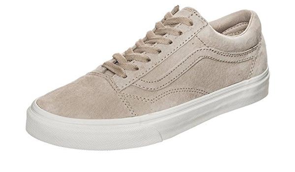 Vans Old Skool Beige Blanco – Zapatillas de skate de ... - Amazon.com