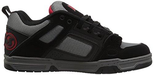 Dvs Mens Comanche Skate Shoe Nero Nabuk In Pelle Carbone