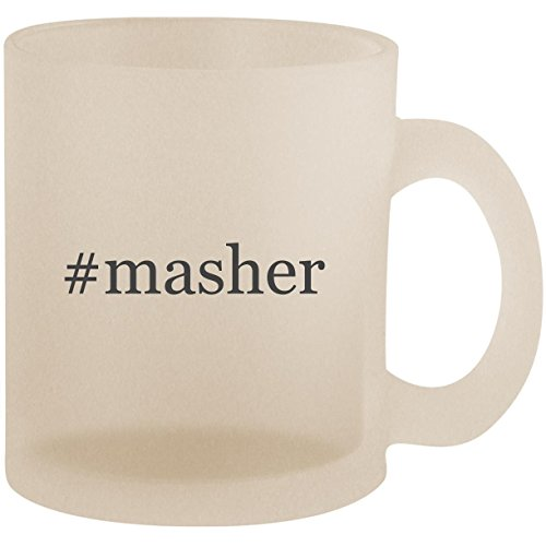 Mashy Masher Egg (#masher - Hashtag Frosted 10oz Glass Coffee Cup Mug)