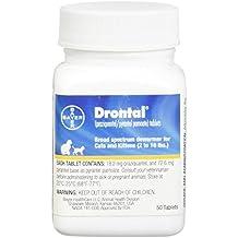 Bayer Drontal Broad Spectrum Dewormer, 50 Tablets