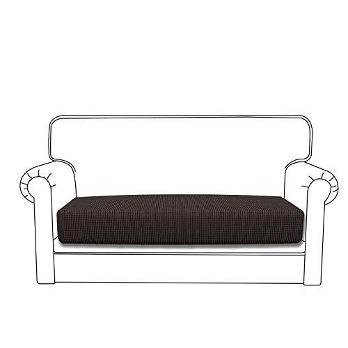 Easy-Going Stretch Cushion Cover Sofa Cushion Furniture Protector Sofa Seat Sofa slipcover Sofa Cover Soft Flexibility with Elastic Bottom(loveseat Cushion,Chocolate) (Cushions Rv Bench Seat)