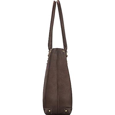 "Solo Premium Leather 15.6"" Laptop Carryall, Espresso, VTA801-3"