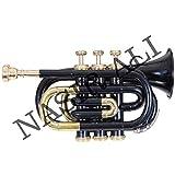 Nasir Ali PoTr-05, Pocket Trumpet, Bb, Black