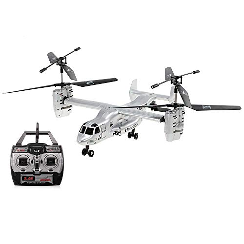 Goolsky Remote Control Osprey Helicopter 2.4G 4CH Dual Axis RC Drone with Double Gyro and Headlamp for Cool Kids