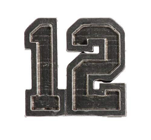 #12 Sports Pewter Lapel Pin, Brooch, Jewelry, A1040 (Seahawks Vest Seattle Mens)