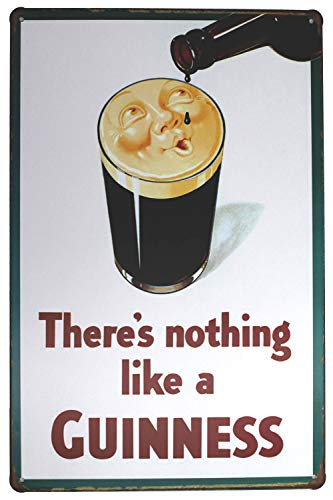 UOOPAI There is nothing like a GUINNESS, Fun Beer Saying Antique Metal Tin Sign Retro Wall Decor