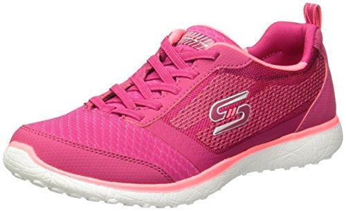 SKECHERS 23306 Tenis para Mujer, color Rojo/Rosa, 25