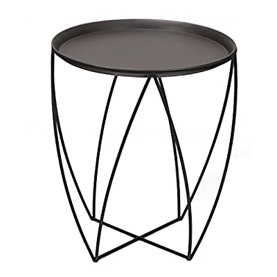 ELEGAN Modern Round Metal Side End Table