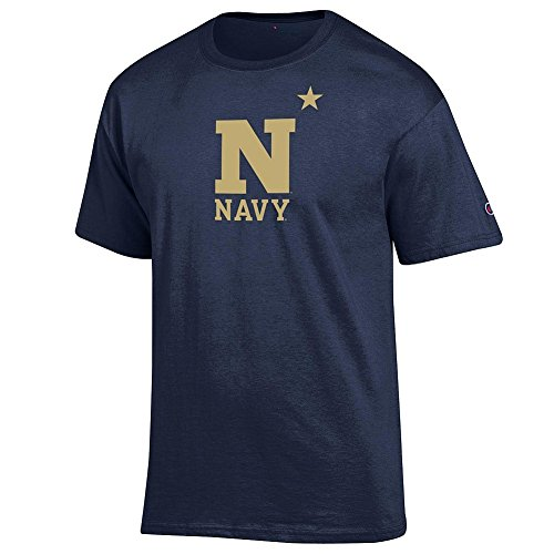 Elite Fan Navy Midshipmen Men's Short Sleeve Arch Tee Shirt, Navy, Large ()