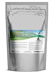 Hardwood Activated Charcoal Powder 100 Percent from USA Trees 8 oz. All Natural. Whitens Teeth, Rejuvenates Skin and Hair, Detoxifies, Helps Digestion, Treats Poisoning, Bug Bites, Wounds. FREE scoop.