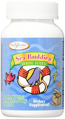 Immune Defense (Enzymatic Therapy Sea Buddies Immune Defense Sparkleberry Chewable Tablets, 60 Count)
