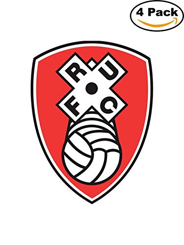 fan products of rotherham united Soccer Football FC Decal Logo 4 Stickers 3X4