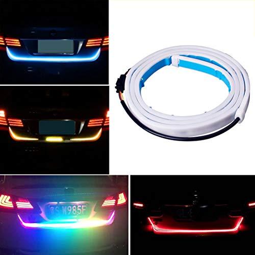 (Botepon 48'' Universal 5 Functions Car LED Tail Strip Light, Tailgate Rear Lights Bar Strip 12V for Running Light, Turn Signal Light, Brake Light, Reverse Light, Double Flash)