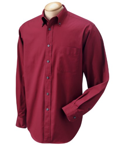 Chestnut Hill Mens 32 Singles Twill Oxford Shirt Ch500 (2X-Large / Merlot)