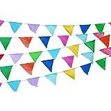Banderines Coloridos de 70 m de Largo, 5 Unidades, plástico para Fiesta, decoración de Fiestas, Suministros Multicolor, Gran Apertura, Celebraciones de cumpleaños