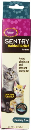 SENTRY Hairball Relief for Cats (Petromalt), Fish Flavor 4.4 oz
