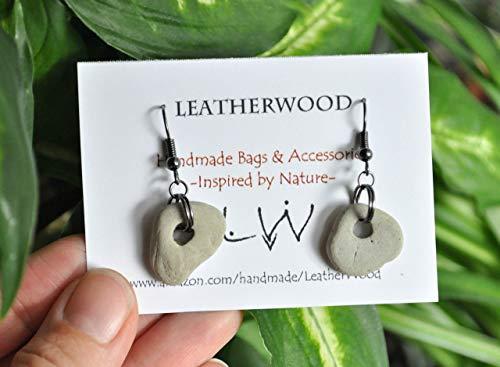 Natural Hag Stone Earrings from Lake Michigan - Hagstone - Wishing Stone - Holey Stone - Adder Stone - Odin Stone