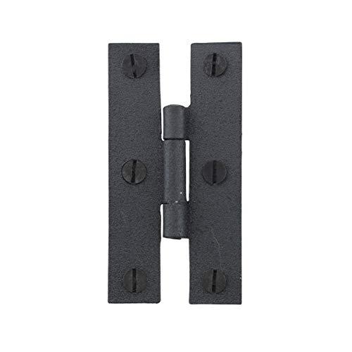 - Cabinet Hinge Black Wrought Iron Hinge H Flush 3'' H | Renovator's Supply