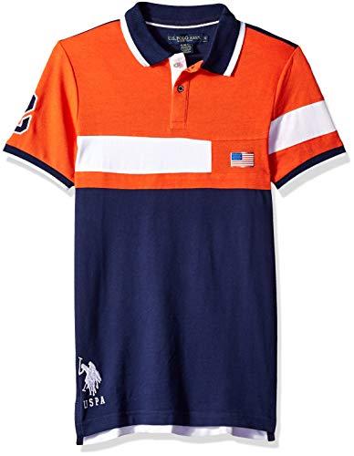 U.S. Polo Assn. Mens Short Sleeve Slim Fit Solid Pique Shirt