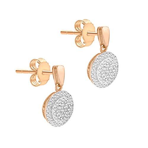 Pave Prive femme  9carats (375/1000)  Or rose|#Gold Rond   Transparent Diamant