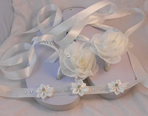 Amazoncom Satin Organza Handmade Flowers Wedding Flip -1824