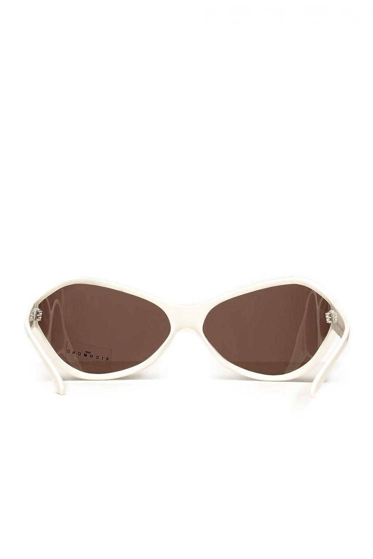 John Richmond Unisex Sonnenbrille SNEAK, Farbe: Creme, Größe: 73