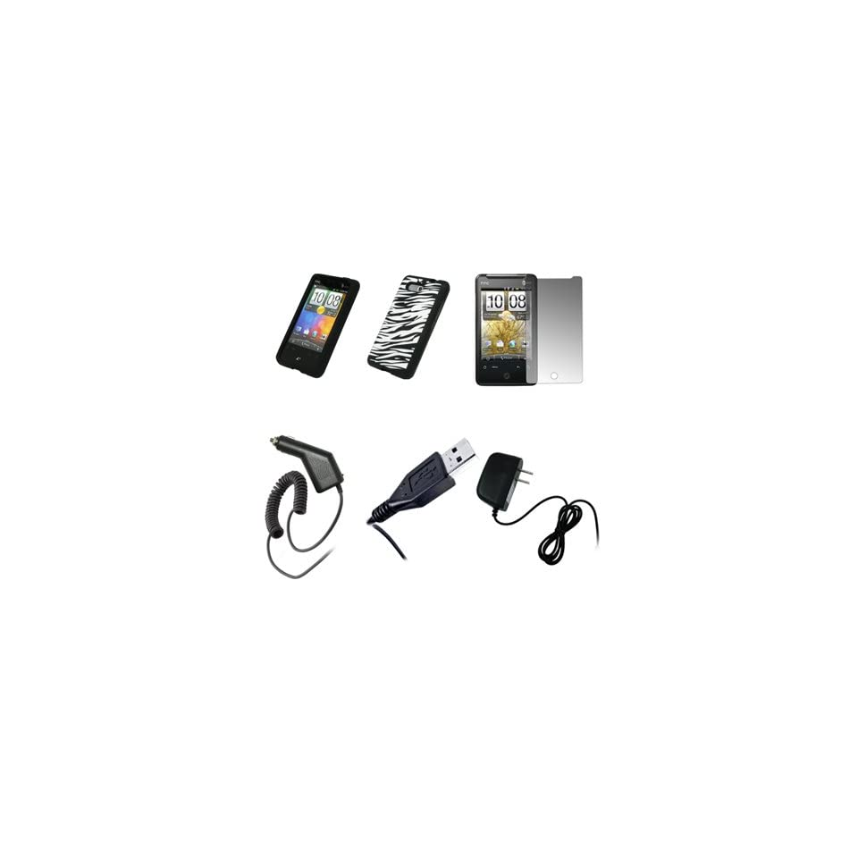 HTC Aria   Premium Black and White Zebra Stripes Design Soft Silicone