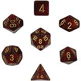 Polyhedral 7-Die Speckled Dice Set - Mercury (d4, d6, d8, d10, d12, d20 & d00)