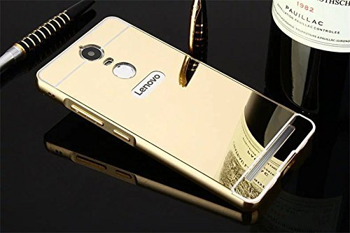 newest 82329 b112f Johra For Lenovo Vibe K5 Note Back Cover, Gold Golden Acrylic Mirror ...
