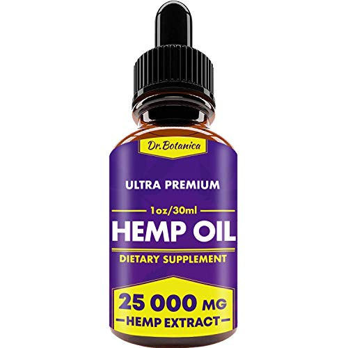 41 KrvavACL - 25 000 MG - Hemp Oil Drops - 100% Pure Natural Ingredients - Co2 Extracted - Anti-inflammatory - Help Reduce Stress, Anxiety and Pain - Vegan Friendly