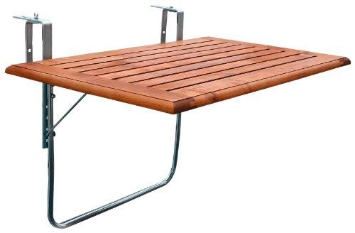 Balkon Klapptisch Für Geländer.Amazon De Videx 16503 Balkonklapptisch Holz 80 X 50