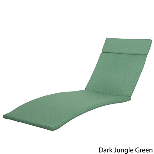 Sienna Colored Lounge Cushion Mattress Only (Set of 2) by Christopher Knight Home - Dark Green Jungle
