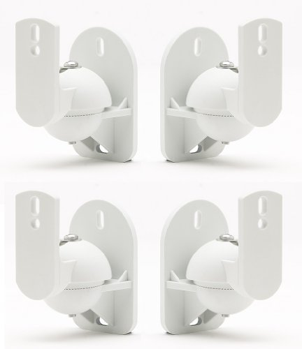 TechSol TSS1 4 Pack Supporto per Altoparlanti Satellitari Stile Home Cinema/Satellite Suono Surround - Colore: Bianco GadgetCenter TSS1W