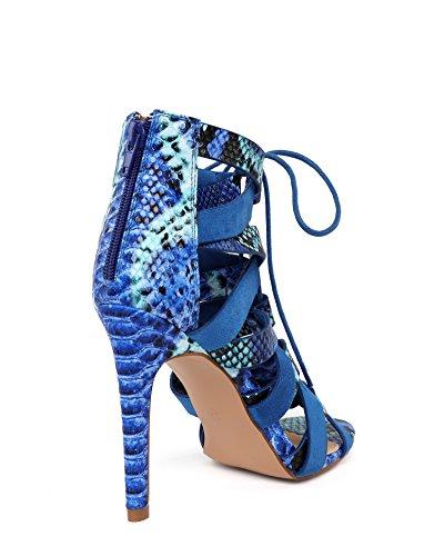 mujer JEZZELLE vestir para Azul de Sandalias x1qn06wzYp