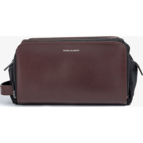 Hook & Albert Leather Toiletry Kit (Brown) by HOOK & ALBERT