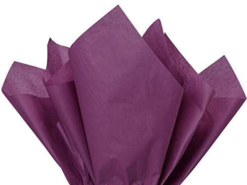 Plum Tissue Paper 15 X 20 Inches - 100 Sheets Pack Premium Quality Tissue Paper by A1 bakery - Plum Distinction