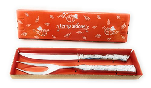 Temp-tations Carving Set 18/10 Stainless Steel 11.5″ 2 Piece (Harvest)