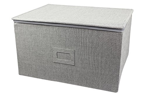 In This Space Twill Hard-shell Foldable Storage Chest For Stemware, Ornaments and Odd-shape Plates