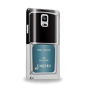 Case88 Premium Designs Art Nail Polish Series 322 Blue Marine Carcasa/Funda dura para el Samsung Galaxy Note 4