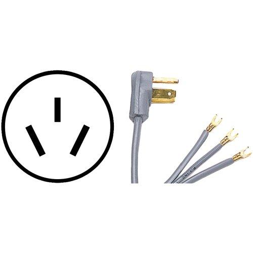 JAYBRAKE 90-1080QC Petra 90-1080Qc 3-Wire Quick-Connect Range Cord 4 Ft (50A Closed Eyelet)