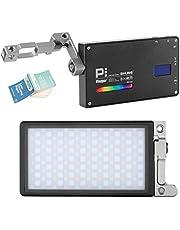 BOLING BL-P1 Lumière vidéo à LED RGB 2500K-8500K Format de Poche Éclairage caméra Photo Éclairage intégré Batterie avec système de Support réglable à 360 ° + Papier de Nettoyage pour Objectif VFOTO
