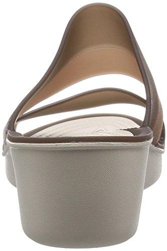 W Sandal crocs Mahogany Wedge Wedge Color Block Stucco Women xzzCwAZqWg