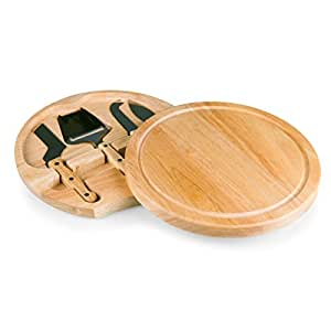 TOSCANA - a Picnic Time brand Picnic Time Circo Cheese Board with Cheese Tools