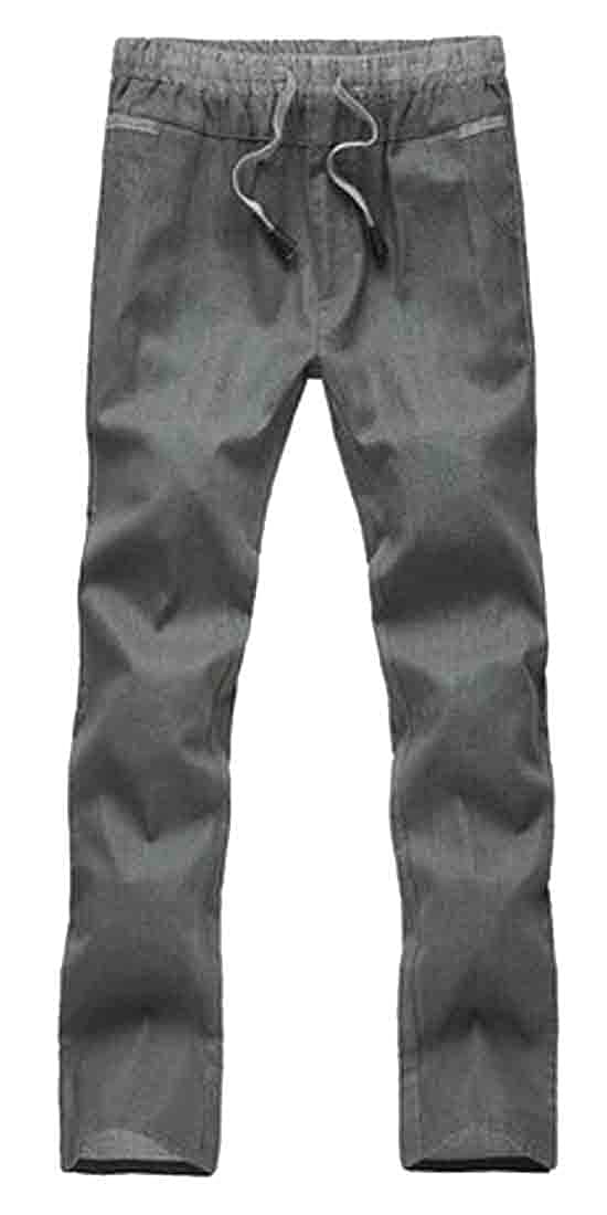 GAGA Men Casual Slim Fit Sports Loose Linen Trousers Baggy Pants
