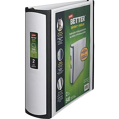 Staples Better Binder 2 Inch White product image