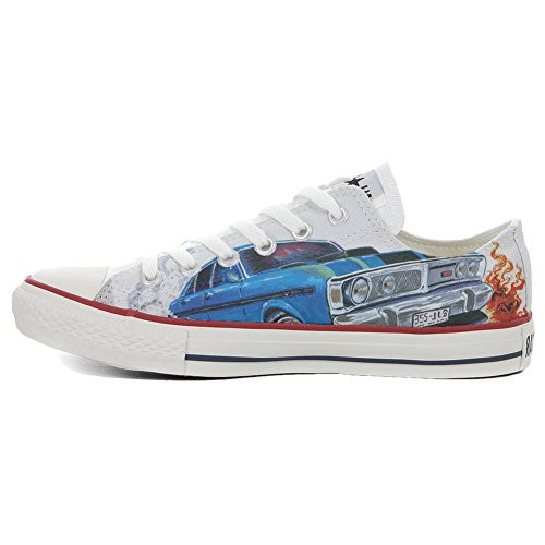 Schuhe Custom Converse All Star, personalisierte Schuhe (Handwerk Produkt customized) Slim Chevrolet