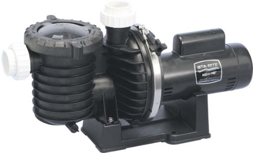 Pentair Sta-Rite P6E6D-205L Max-E-Pro Energy Efficient Single Speed Full Rated Pool and Spa Pump, 3/4 HP 115/230-Volt